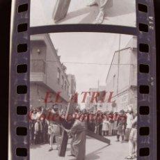 Fotografía antigua: BENETUSER, VALENCIA - SEMANA SANTA - 6 CLICHES NEGATIVOS DE 35 MM EN CELULOIDE, AÑO 1979. Lote 212047757