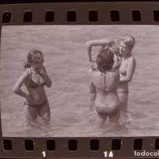 Fotografía antigua: BENIDORM, ALICANTE - VISTAS - 6 CLICHES NEGATIVOS DE 35 MM EN CELULOIDE - AÑO 1974. Lote 212058625