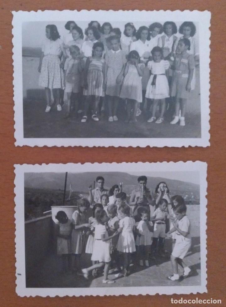 DOS FOTOS LA AMETLLA GRUPO DE NIÑOS AGOSTO 1943 (Fotografía Antigua - Fotomecánica)