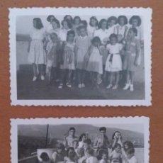 Fotografía antigua: DOS FOTOS LA AMETLLA GRUPO DE NIÑOS AGOSTO 1943. Lote 212184667