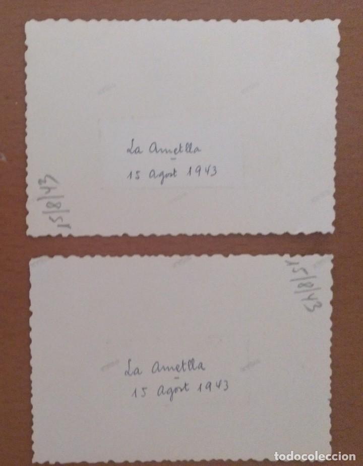 Fotografía antigua: DOS FOTOS LA AMETLLA GRUPO DE NIÑOS AGOSTO 1943 - Foto 4 - 212184667