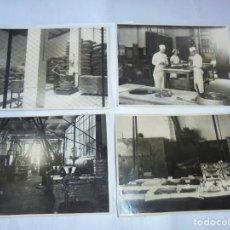 Fotografía antigua: MAGNIFICAS CUATRO FOTOGRAFIAS ANTIGUAS DE LOS AÑOS 40-50 FABRICA DE CHOCOLATES BUBI. Lote 212408637