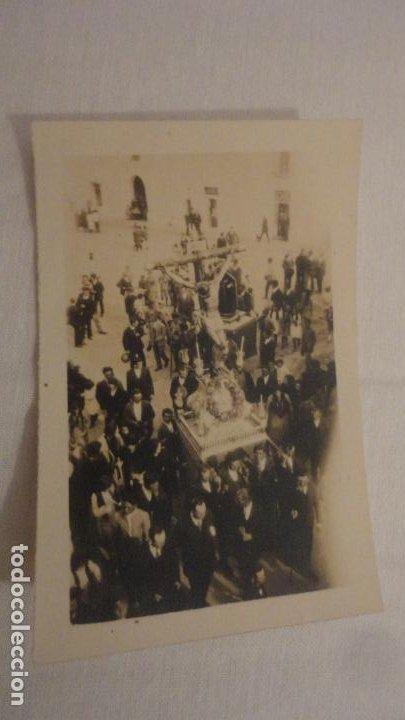 ANTIGUA FOTOGRAFIA.CRISTO EN PROCESION SIN IDENTIFICAR AÑOS 30? (Fotografía Antigua - Fotomecánica)