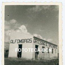 Fotografía antigua: FOTO ORIGINAL FABRICA TAPICES ALFOMBRAS NISTAL AÑOS 50 POSIBLEMENTE ASTORGA LEON. Lote 212764722
