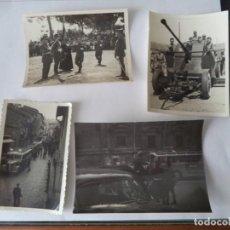 Fotografía antigua: LOTE CUATRO FOTOGRAFIAS CON MOTIVOS MILITARES.. Lote 213126250