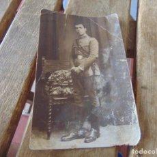 Fotografía antigua: FOTO FOTOGRAFÍA TARJETA POSTAL MILITAR EPOCA ALFONSO XIII 1929. Lote 214128536