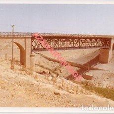 Fotografía antigua: ANTIGUA FOTOGRAFIA PUENTE LINEA FERROVIARIA ALMERIA-LINARES, 128X90MM. Lote 214235566