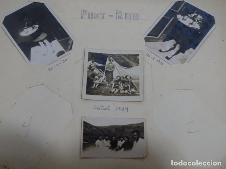 Fotografía antigua: Album 94 fotografías De port-bou del año 1929-1931. - Foto 2 - 214499752