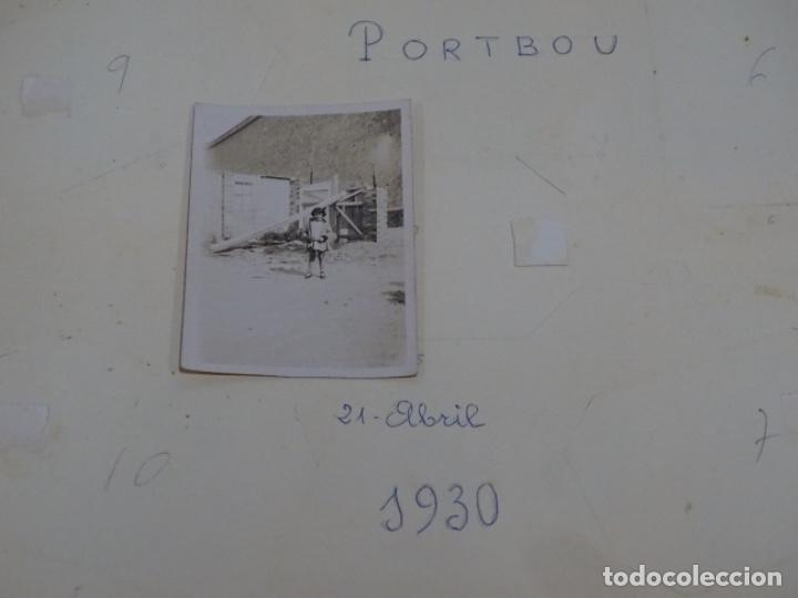 Fotografía antigua: Album 94 fotografías De port-bou del año 1929-1931. - Foto 3 - 214499752