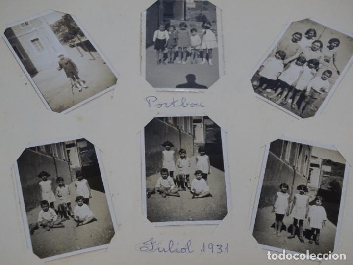 Fotografía antigua: Album 94 fotografías De port-bou del año 1929-1931. - Foto 24 - 214499752