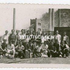 Fotografía antigua: FOTO ORIGINAL VALLCARCA POSIBLENTE INDUSTRIA CEMENTERA SITGES AÑOS 40. Lote 215071777