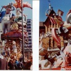 Fotografía antigua: LOTE 2 FOTOS-FALLAS VALENCIA AÑO 2012--FOTO ORIGINAL. Lote 215971178