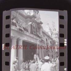 Fotografía antigua: VALENCIA - 9 DE OCTUBRE LA SENYERA - 36 CLICHES NEGATIVOS DE 35 MM EN CELULOIDE - AÑOS 1970-80. Lote 216457608