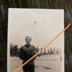 Fotografia antica: FOTOGRAFÍA ANTIGUA. ZARAGOZA. VELÓDROMO. DÍA DE LA INAUGURACIÓN. CICLISTA FARGAS. FOTO AÑO 1928.. Lote 216689408