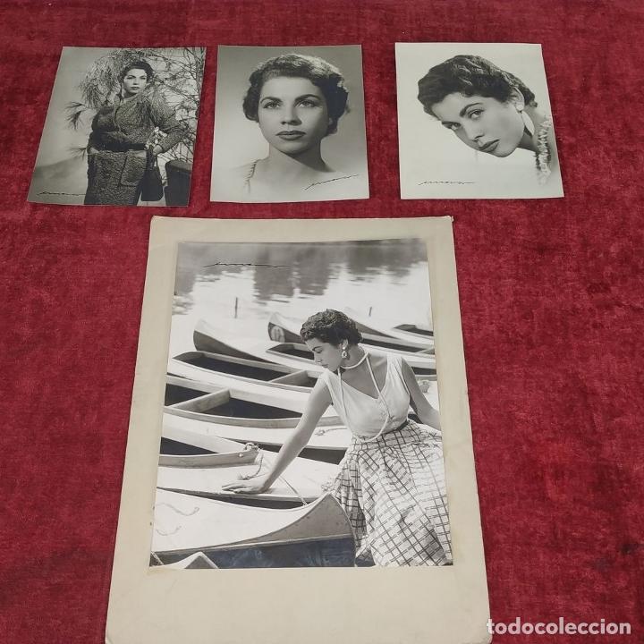 Fotografía antigua: 4 FOTOGRAFÍAS DE MARINA MARTINEZ SORIANO. FIRMADAS POR AMER VENTOSA. ESPAÑA. CIRCA 1955 - Foto 2 - 217088821