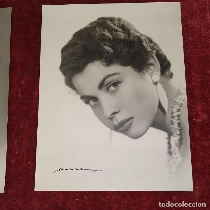 Fotografía antigua: 4 FOTOGRAFÍAS DE MARINA MARTINEZ SORIANO. FIRMADAS POR AMER VENTOSA. ESPAÑA. CIRCA 1955 - Foto 8 - 217088821