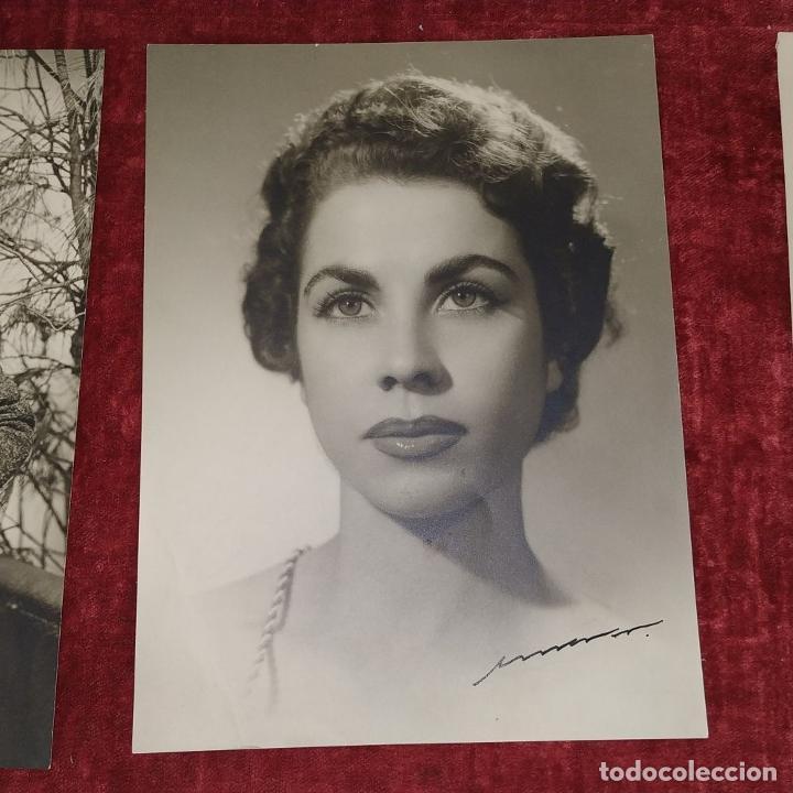 Fotografía antigua: 4 FOTOGRAFÍAS DE MARINA MARTINEZ SORIANO. FIRMADAS POR AMER VENTOSA. ESPAÑA. CIRCA 1955 - Foto 9 - 217088821