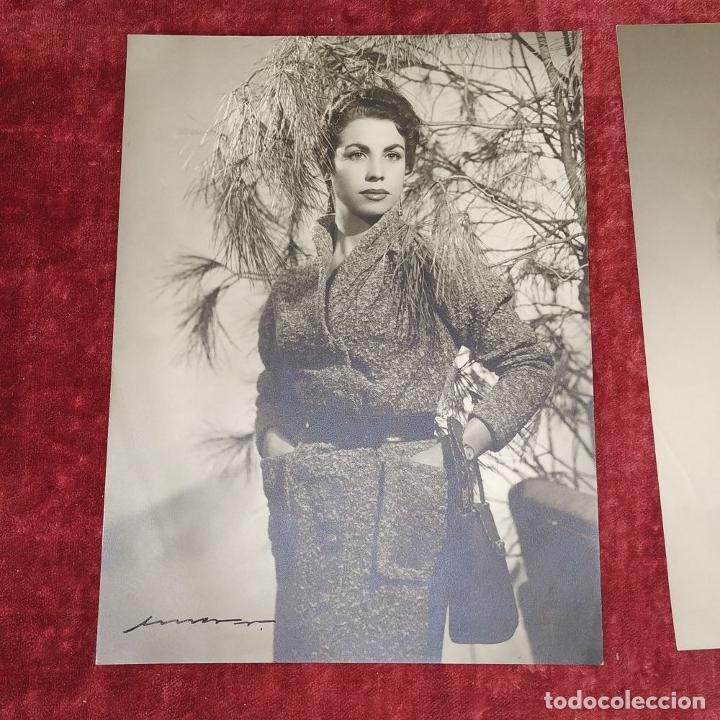 Fotografía antigua: 4 FOTOGRAFÍAS DE MARINA MARTINEZ SORIANO. FIRMADAS POR AMER VENTOSA. ESPAÑA. CIRCA 1955 - Foto 10 - 217088821