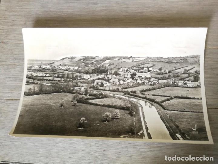 ANTIGUA Y PRECIOSA FOTOGRAFIA AÉREA REGIÓN DE BORGOÑA FRANCIA - LE COTEAU VELOGNY (MORVAN) - 1958 (Fotografía Antigua - Fotomecánica)