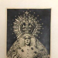 Fotografía antigua: SEMANA SANTA SEVILLA. ANTIGUA FOTOGRAFÍA. VIRGEN DE LA ESPERANZA MACARENA. 13X18 (APROX). Lote 217747557