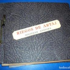 Fotografía antigua: (FOT-200915)ALBUM FOTOGRAFICO RIEGOS DE ARTAJ S.A.PROYECTO DEL PANTANO. Lote 218110311