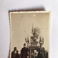 Fotografia antica: SELLA, ALICANTE. FOTOGRAFÍA ANTIGUA. DIVINA AURORA. PROCESIÓN RELIGIOSA (H.1950?). Lote 218319160