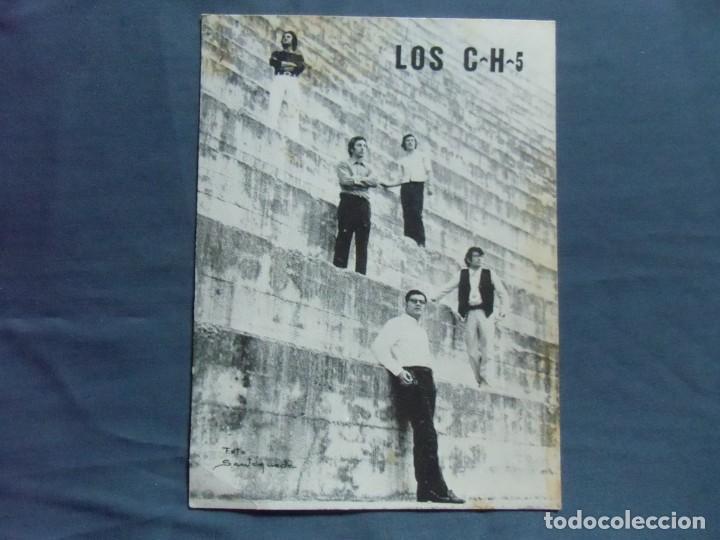 CASTELLON.CONJUNTO LOS C-H-5.TARJETA PROMOCIONAL, AÑOS 70. (Fotografía Antigua - Fotomecánica)