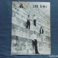 Fotografía antigua: CASTELLON.CONJUNTO LOS C-H-5.TARJETA PROMOCIONAL, AÑOS 70.. Lote 218536017