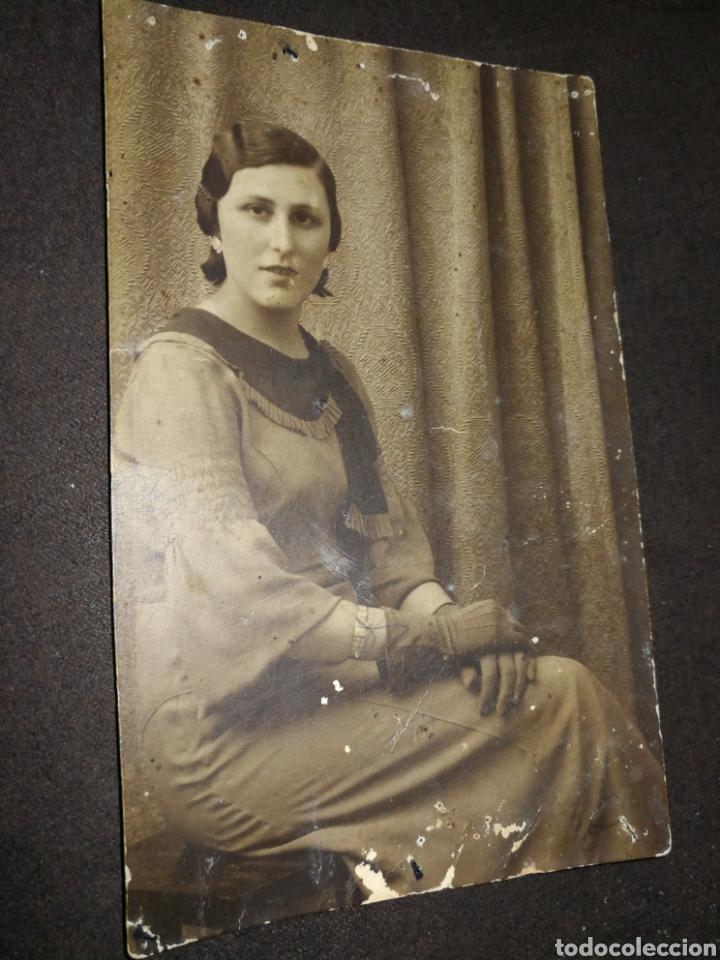 ANTIGUA FOTOGRAFÍA AÑOS 20-30, DAMA. (Fotografía Antigua - Fotomecánica)