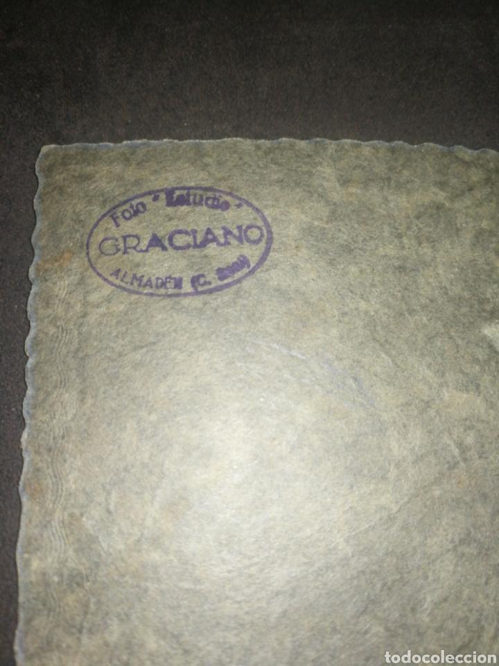 Fotografía antigua: Antigua fotografía montada, Almadén, fotógrafo GRACIANO. - Foto 3 - 218542111