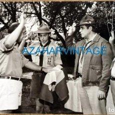 Fotografía antigua: ANTIGUA FOTOGRAFIA, GRUPO DE BOYS SCOUTS, 14X9 CMS. Lote 218687732