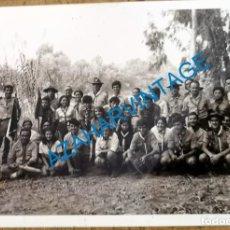 Fotografía antigua: ANTIGUA FOTOGRAFIA, GRUPO DE BOYS SCOUTS, 105X75MM. Lote 218687826