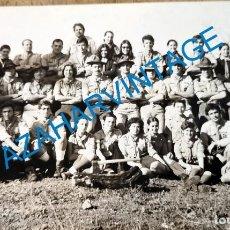 Fotografía antigua: ANTIGUA FOTOGRAFIA, GRUPO DE BOYS SCOUTS, 14X9 CMS. Lote 218687912