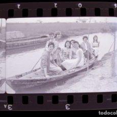 Fotografía antigua: VALENCIA - ALBUFERA - 6 CLICHES NEGATIVO DE 35 MM EN CELULOIDE - AÑO 1959. Lote 218729833