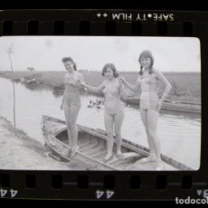 Fotografía antigua: VALENCIA - ALBUFERA - 6 CLICHES NEGATIVO DE 35 MM EN CELULOIDE - AÑO 1959. Lote 218729903