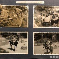 Fotografía antigua: LA FONT DE LA TOSCA DE MOYA BARCELONA FOTOGRAFÍAS (4) ARROSSET AMB ELS AMICS Y ELS NETS (H.1950?). Lote 218809032