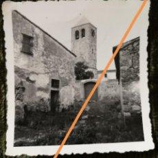 Fotografía antigua: ANTIGUA FOTOGRAFÍA.IGLESIA DE SANTA MARÍA DE BARBERÁ. BARBERÁ DEL VALLES. BARCELONA. FOTO AÑO 1935.. Lote 218811538
