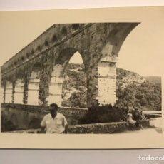 Fotografía antigua: TARRAGONA. FOTOGRAFÍA PONT DEL DIABLE ? LABORATORIO CASA ESCUDER (H.1950?). Lote 219024193