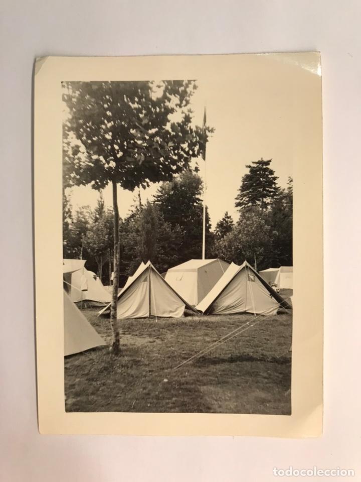 O.J.E. PICO CAROCHE ? CAMPAMENTO. TERESA DE COFRENTES, VALENCIA. FOTOGRAFÍA ANTIGUA (H.1960?) (Fotografía Antigua - Fotomecánica)