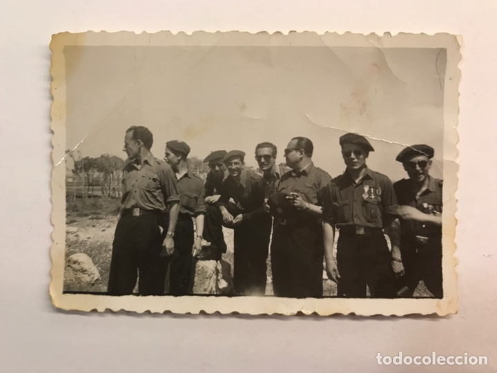 FALANGE ESPAÑOLA DE LAS J.O.N.S, FOTOGRAFÍA ANTIGUA GRUPO DE MANDOS (H.1940?) (Fotografía Antigua - Fotomecánica)