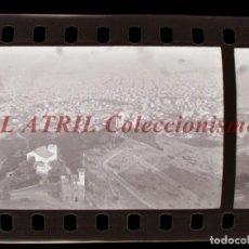 Fotografía antigua: BARCELONA - VISTAS - 35 CLICHES NEGATIVOS DE 35 MM EN CELULOIDE - AÑOS 1950-1960. Lote 219198363