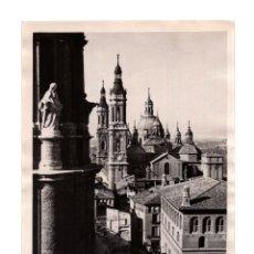 Fotografía antigua: ZARAGOZA.- BASÍLICA DEL PILAR. 7.11.1937. GUERRA CIVIL. 18X13.. Lote 219336915