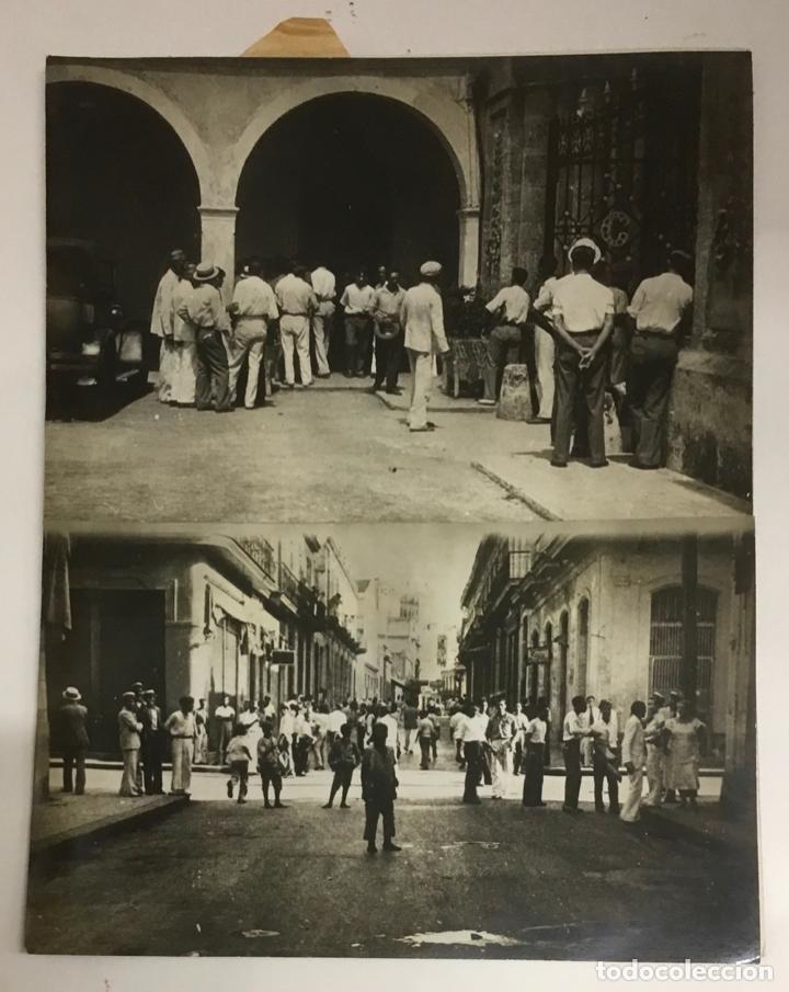 Fotografía antigua: 22 FOTOGRAFIAS CUBA. DERROCAMIENTO MACHADO. CESPEDES, RAMON GRAU... DESTROZOS SAQUEOS - Foto 2 - 219354651