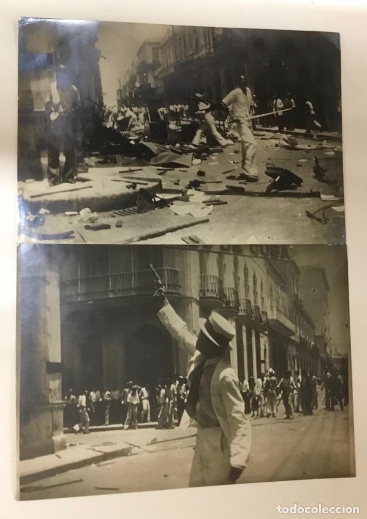 Fotografía antigua: 22 FOTOGRAFIAS CUBA. DERROCAMIENTO MACHADO. CESPEDES, RAMON GRAU... DESTROZOS SAQUEOS - Foto 11 - 219354651