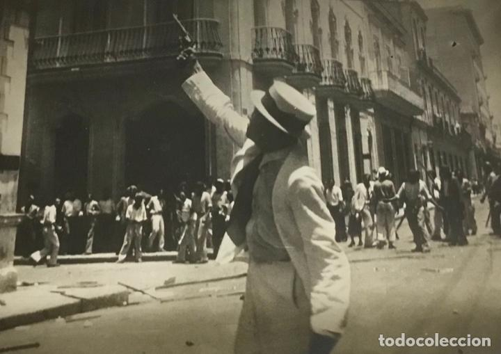 22 FOTOGRAFIAS CUBA. DERROCAMIENTO MACHADO. CESPEDES, RAMON GRAU... DESTROZOS SAQUEOS (Fotografía Antigua - Fotomecánica)