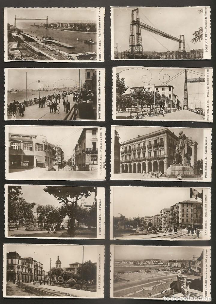 LOTE 13 FOTOGRAFIAS DE PORTUGALETE-SANTURTZI-SANTURCE. AÑOS 50?-60?. 9 X 4,5 CMS. RECUPERADAS (Fotografía Antigua - Fotomecánica)