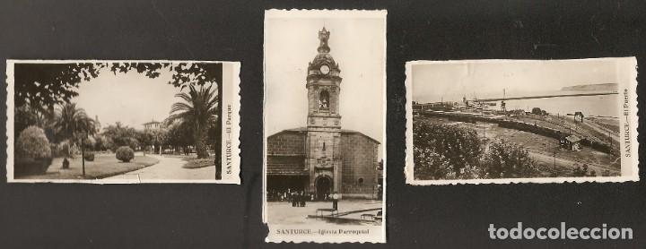 Fotografía antigua: LOTE 13 FOTOGRAFIAS DE PORTUGALETE-SANTURTZI-SANTURCE. AÑOS 50?-60?. 9 x 4,5 CMS. RECUPERADAS - Foto 3 - 219913553