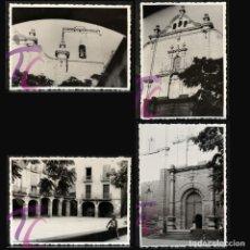 Fotografía antigua: LOTE 4 FOTOGRAFIAS GUISSONA LLEIDA 1962 B/N 10X7,5CM LERIDA. Lote 220719952