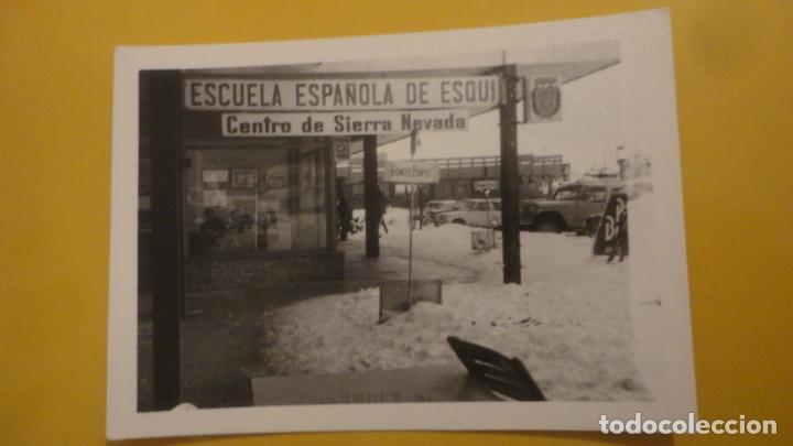 ANTIGUA FOTOGRAFIA.ESCUELA ESPAÑOLA DE ESQUI.CENTRO SIERRA NEVADA.GRANADA AÑOS 60? (Fotografía Antigua - Fotomecánica)