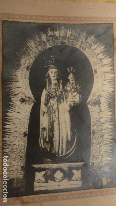 Fotografía antigua: ANTIGUA FOTOGRAFIA.VIRGEN NUESTRA SEÑORA DE GRACIA.OLIVA DE LA FRONTERA. - Foto 2 - 221516633